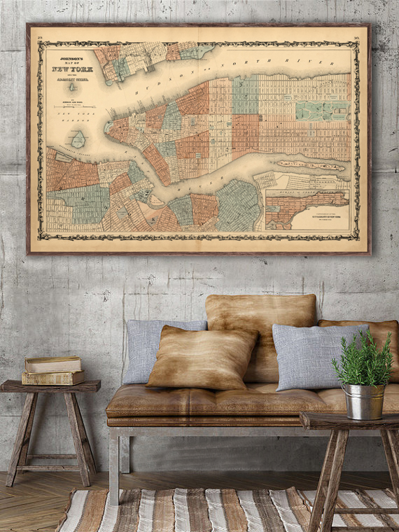 Mockup of 1862 NYC map