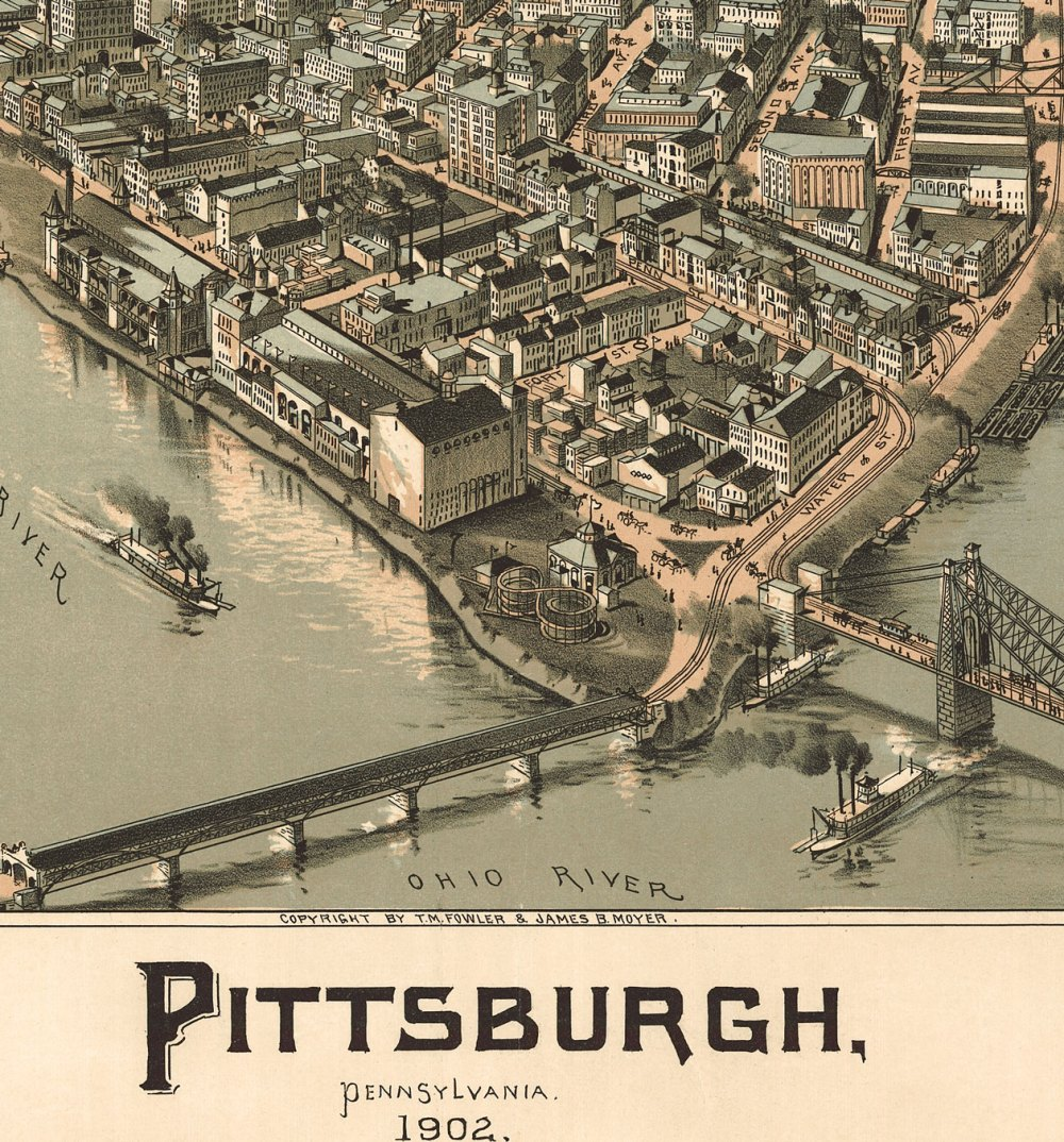 Close up #3 of 1902 Pittsburgh panorama map