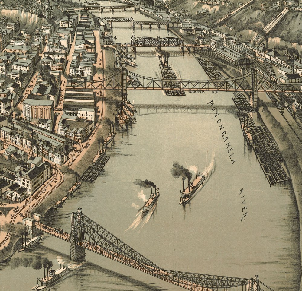 Close up #2 of 1902 Pittsburgh panorama map
